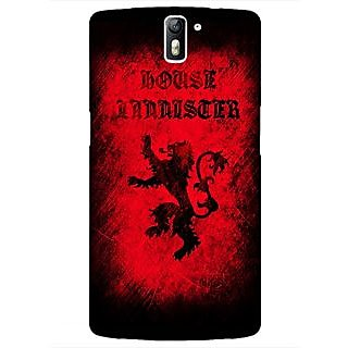1 Crazy Designer Game Of Thrones GOT House Lannister  Back Cover Case For OnePlus One C410166