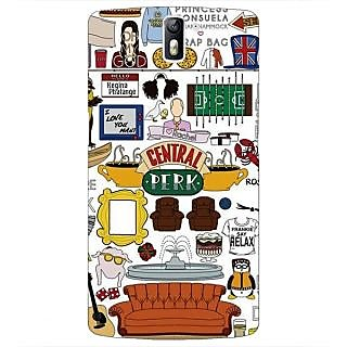 1 Crazy Designer TV Series FRIENDS Back Cover Case For OnePlus One C410342