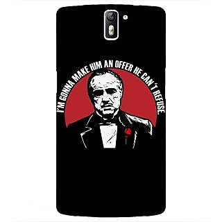 1 Crazy Designer The Godfather Back Cover Case For OnePlus One C410349