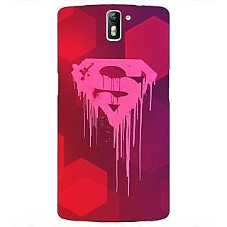 1 Crazy Designer Superheroes Superman Back Cover Case For OnePlus One C410380