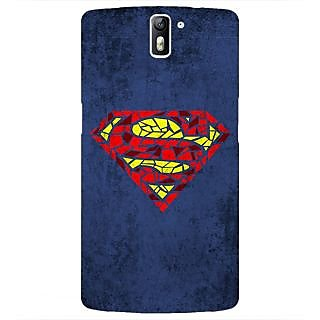 1 Crazy Designer Superheroes Superman Back Cover Case For OnePlus One C410381