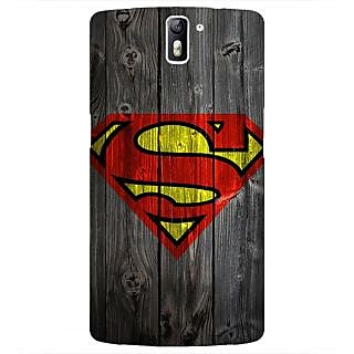 1 Crazy Designer Superheroes Superman Back Cover Case For OnePlus One C410384