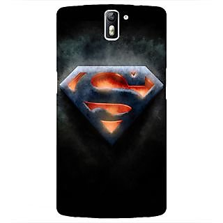 1 Crazy Designer Superheroes Superman Back Cover Case For OnePlus One C410386