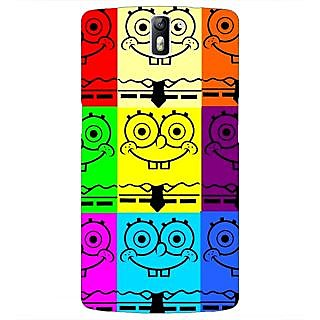 1 Crazy Designer Spongebob Back Cover Case For OnePlus One C410462