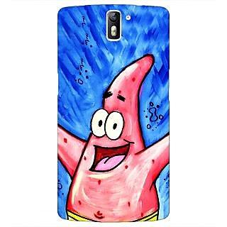 1 Crazy Designer Spongebob Patrick Back Cover Case For OnePlus One C410463