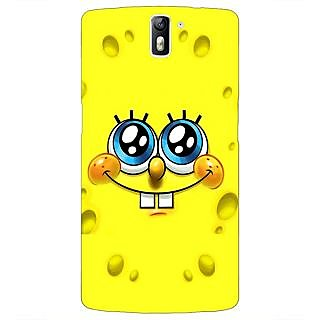 1 Crazy Designer Spongebob Back Cover Case For OnePlus One C410464