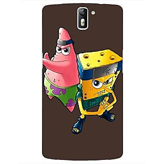 1 Crazy Designer Spongebob Patrick Back Cover Case For OnePlus One C410471