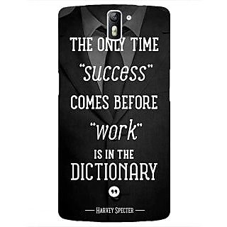 1 Crazy Designer SUITS Quotes Back Cover Case For OnePlus One C410476