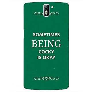 1 Crazy Designer SUITS Quotes Back Cover Case For OnePlus One C410479