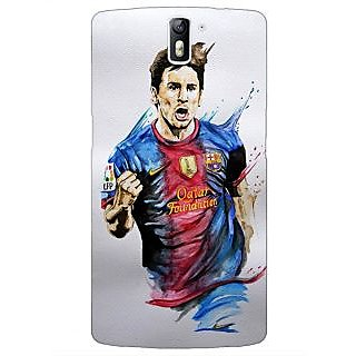 1 Crazy Designer Barcelona Messi Back Cover Case For OnePlus One C410526