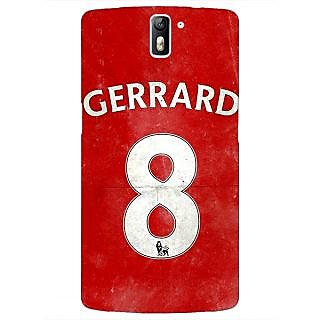 1 Crazy Designer Liverpool Gerrard Back Cover Case For OnePlus One C410546