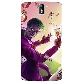 1 Crazy Designer Joker Back Cover Case For OnePlus One C411441
