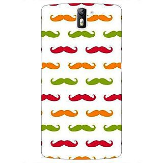 1 Crazy Designer Moustache Back Cover Case For OnePlus One C411450