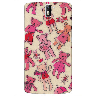1 Crazy Designer Teddy Pattern Back Cover Case For OnePlus One C410263
