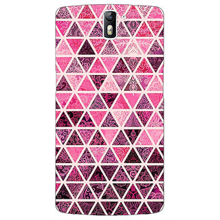1 Crazy Designer Red Triangles Pattern Back Cover Case For OnePlus One C410266