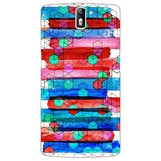 1 Crazy Designer Colourful Winter Pattern Back Cover Case For OnePlus One C410279