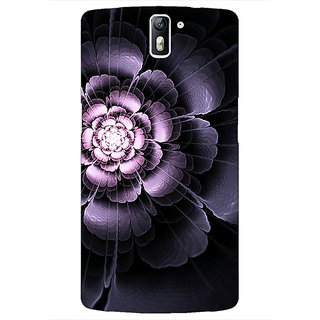 1 Crazy Designer Abstract Flower Pattern Back Cover Case For OnePlus One C411518