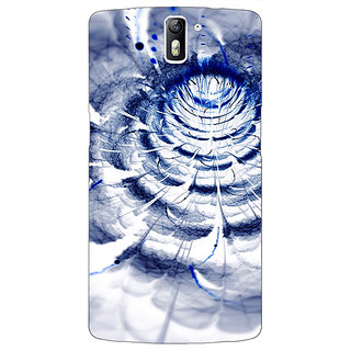 1 Crazy Designer Abstract Flower Pattern Back Cover Case For OnePlus One C411521