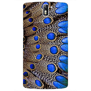 1 Crazy Designer Paisley Beautiful Peacock Back Cover Case For OnePlus One C411577