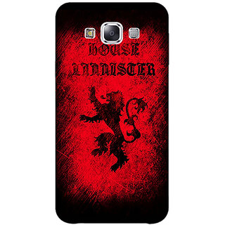 1 Crazy Designer Game Of Thrones GOT House Lannister  Back Cover Case For Samsung Galaxy E7 C420166