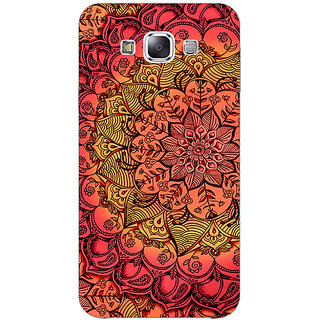 1 Crazy Designer Red DayDream Pattern Back Cover Case For Samsung Galaxy E7 C420214