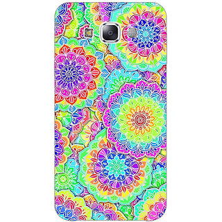 1 Crazy Designer Psychdelic Floral  Pattern Back Cover Case For Samsung Galaxy E7 C420235
