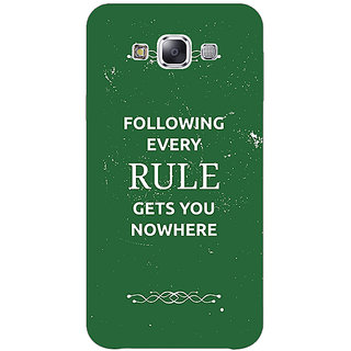 1 Crazy Designer SUITS Quotes Back Cover Case For Samsung Galaxy E7 C420486