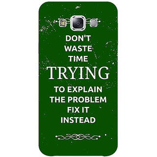 1 Crazy Designer SUITS Quotes Back Cover Case For Samsung Galaxy E7 C420487