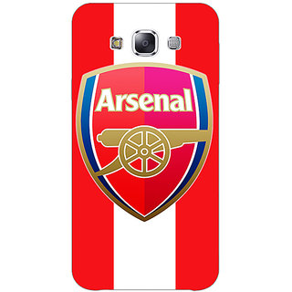 1 Crazy Designer Arsenal Back Cover Case For Samsung Galaxy E7 C420509