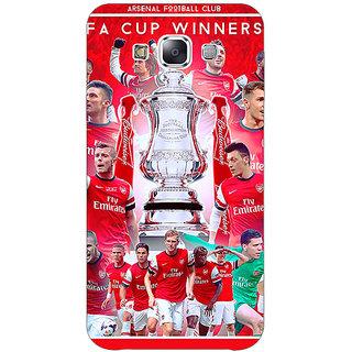 1 Crazy Designer Arsenal Back Cover Case For Samsung Galaxy E7 C420516