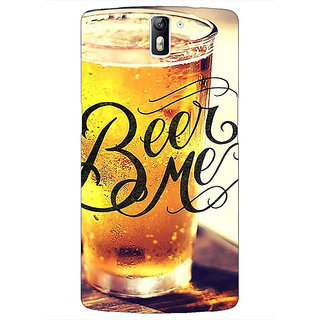 1 Crazy Designer Beer Quote Back Cover Case For OnePlus One C411210