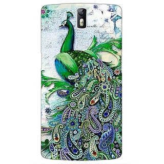 1 Crazy Designer Paisley Beautiful Peacock Back Cover Case For OnePlus One C411591