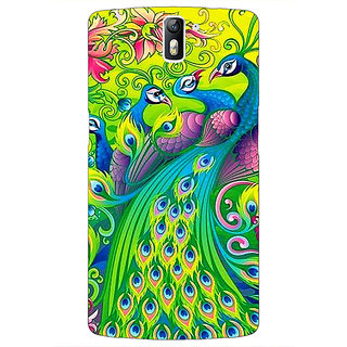 1 Crazy Designer Paisley Beautiful Peacock Back Cover Case For OnePlus One C411596