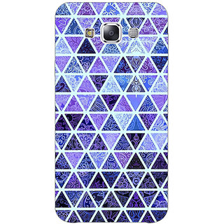 1 Crazy Designer Blue triangles Pattern Back Cover Case For Samsung Galaxy E7 C420267
