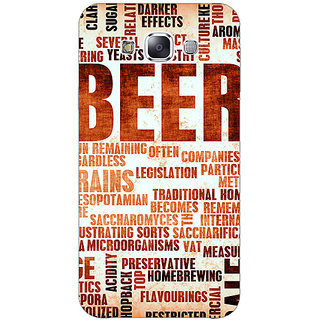1 Crazy Designer Beer Quote Back Cover Case For Samsung Galaxy E7 C421242