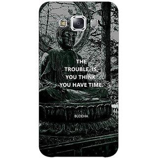1 Crazy Designer Gautam Buddha Back Cover Case For Samsung Galaxy E7 C421276