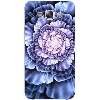 1 Crazy Designer Abstract Flower Pattern Back Cover Case For Samsung Galaxy E7 C421516