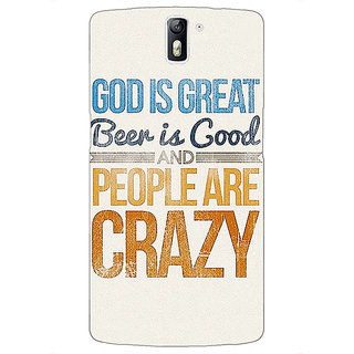 1 Crazy Designer Beer Quote Back Cover Case For OnePlus One C411215