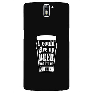 1 Crazy Designer Beer Quote Back Cover Case For OnePlus One C411254
