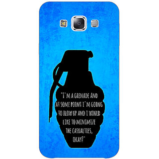 1 Crazy Designer TFIOS Grenade  Back Cover Case For Samsung Galaxy E7 C420106