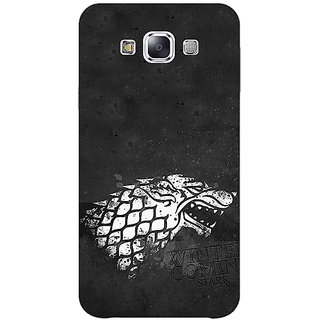 1 Crazy Designer Game Of Thrones GOT House Stark  Back Cover Case For Samsung Galaxy E7 C420125