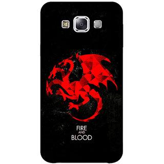 1 Crazy Designer Game Of Thrones GOT House Targaryen  Back Cover Case For Samsung Galaxy E7 C420140