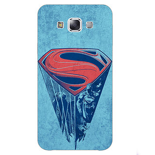1 Crazy Designer Superheroes Superman Back Cover Case For Samsung Galaxy E7 C420387