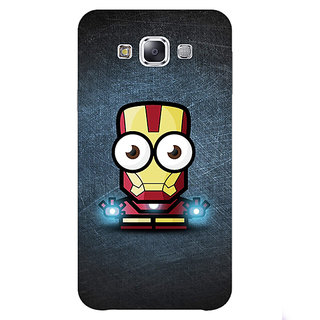 1 Crazy Designer Big Eyed Superheroes Iron Man Back Cover Case For Samsung Galaxy E7 C420396