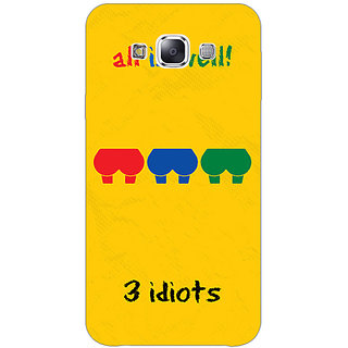 1 Crazy Designer Bollywood Superstar Three Idiots Back Cover Case For Samsung Galaxy E7 C421104