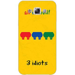 1 Crazy Designer Bollywood Superstar Three Idiots Back Cover Case For Samsung Galaxy E7 C421104