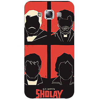1 Crazy Designer Bollywood Superstar Sholay Back Cover Case For Samsung Galaxy E7 C421124