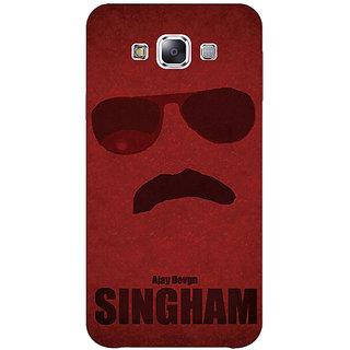 1 Crazy Designer Bollywood Superstar Singham Back Cover Case For Samsung Galaxy E7 C421126