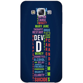 1 Crazy Designer Bollywood Superstar DevD Back Cover Case For Samsung Galaxy E7 C421130