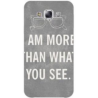 1 Crazy Designer Quote Back Cover Case For Samsung Galaxy E7 C421316